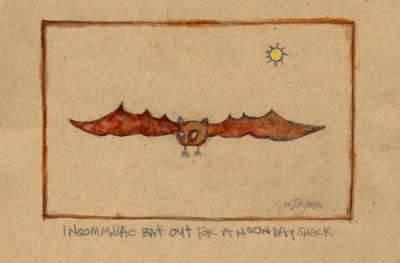 Bat drawing by Jen Ferguson