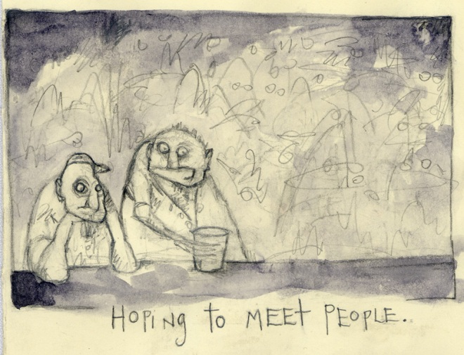 Hoping to meet People, art by Jen Ferguson