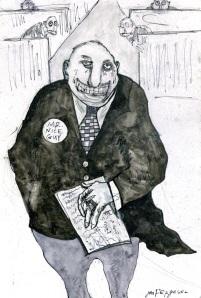 Mr. Nice Guy, drawing by Jen Ferguson