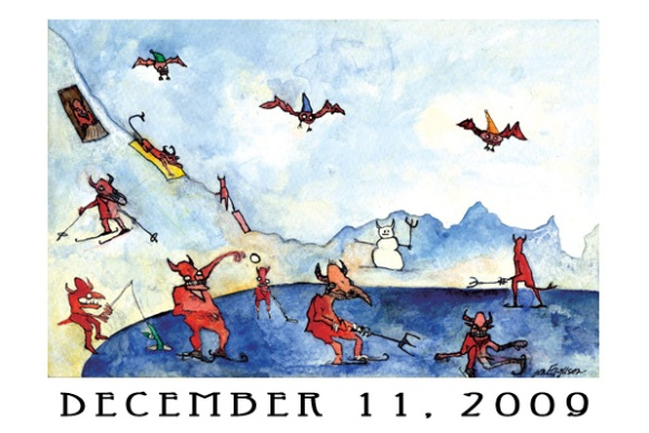 Jen Ferguson's advent calendar art, Dec. 11, 2009