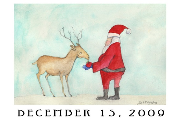 Jen Ferguson's Advent calendar art, dec. 15 2009