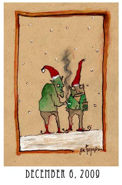 Jen's advent calendar art, dec. 6 209