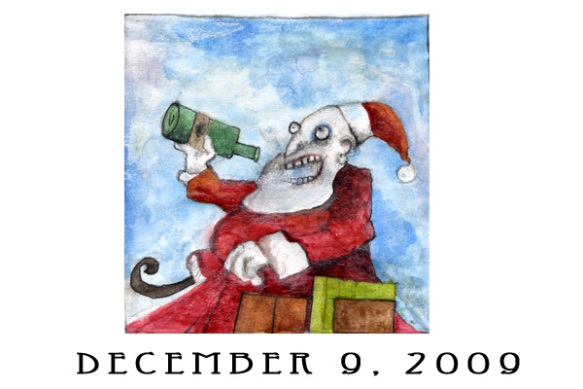 Jen Ferguson's advent calendar art; Dec. 9 2009