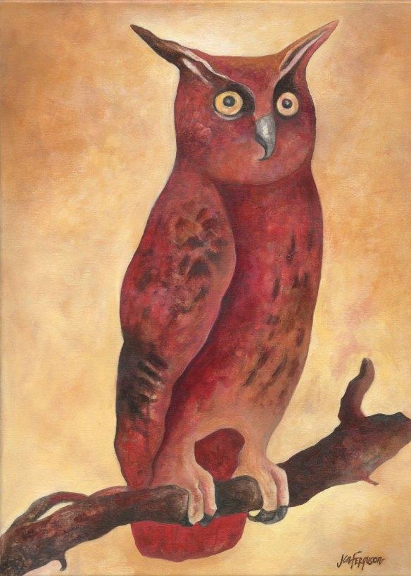 "Jen Ferguson ""Owl"" painting"