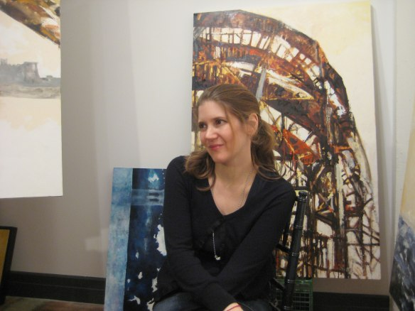 Jen in studio