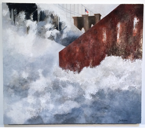 "Dock Street (oil on canvas, 36 x 24""; 2014)"